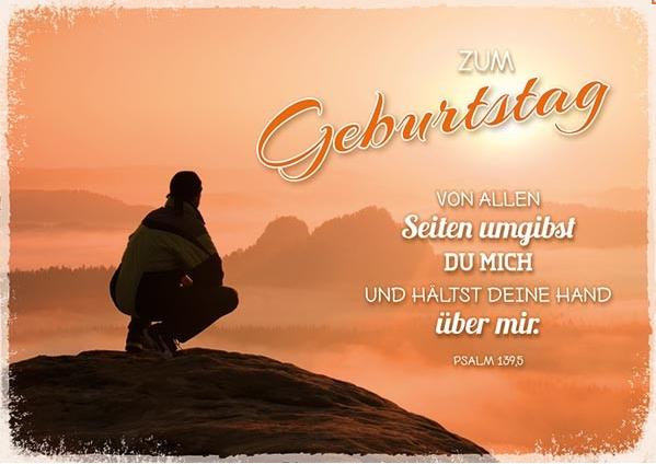 DK Von allen Seiten umgibst du mich | Verse zum geburtstag ...