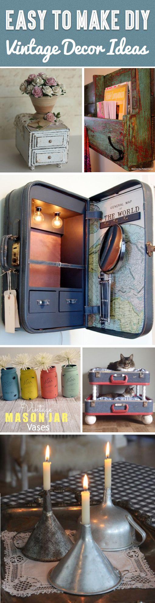 25 easy to make diy vintage decor ideas weihnacht deko projekte und vintage. Black Bedroom Furniture Sets. Home Design Ideas