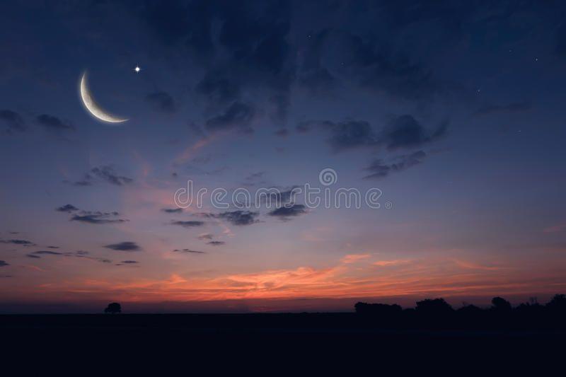 Night Sky Landscape And Moon Stars Ramadan Kareem Celebration Ad Landscape Moon Night Sky Kareem Ad Sky Landscape Night Skies Night Photos