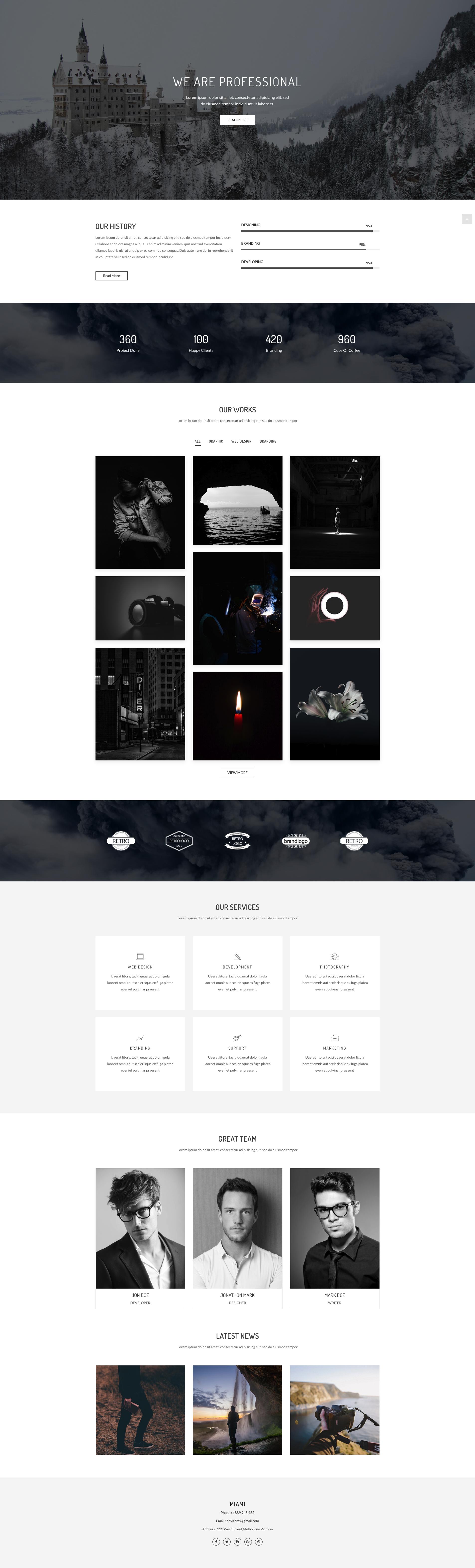 Miami - Creative Minimal Portfolio Template. This template build ...