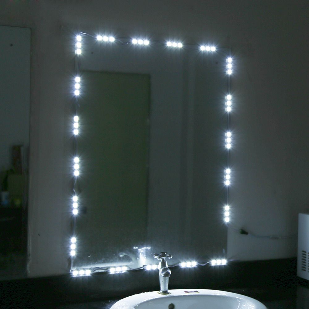 5FT 10FT White LED Light Strip Kit For Makeup Cosmetic Vanity Mirror Lighted with Power Dressing & 5FT 10FT White LED Light Strip Kit For Makeup Cosmetic Vanity ... azcodes.com