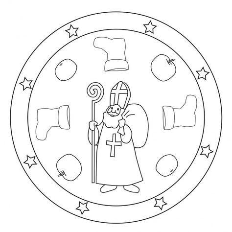 Nikolaus Mandala Nikolaus Basteln Kindergarten Ausmalbilder Nikolaus St Nikolaus