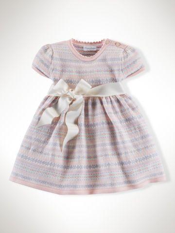Fair Isle Cotton Sweater Dress - Baby Girl Dresses & Skirts ...