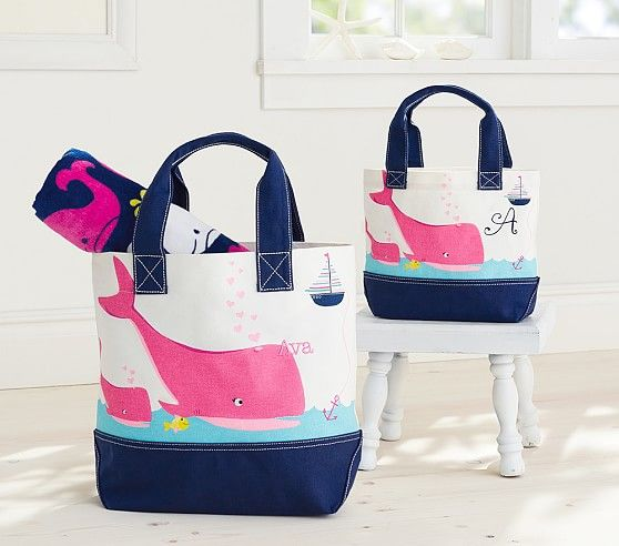 Pink Whale Preppy Icon Tote Beach Wrap Tote Pink Whale