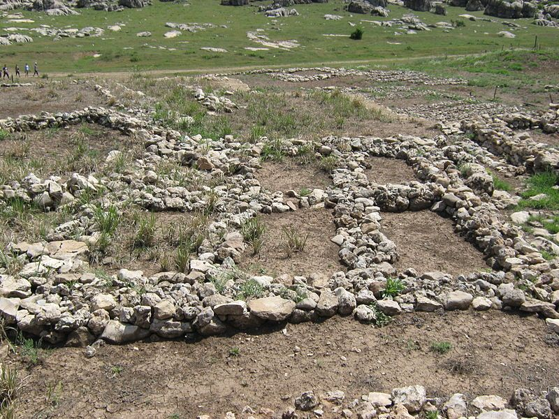 Çayönü is a Neolithic settlement in southeastern Turkey inhabited around 7200 to 6600 BC. It is located forty kilometres north-west of Diyarbakır, at the foot of the Taurus mountains. Çayönü is possibly the place where the pig (Sus scrofa) was first domesticated. The wild fauna include wild boar, wild sheep, wild goat and cervids.