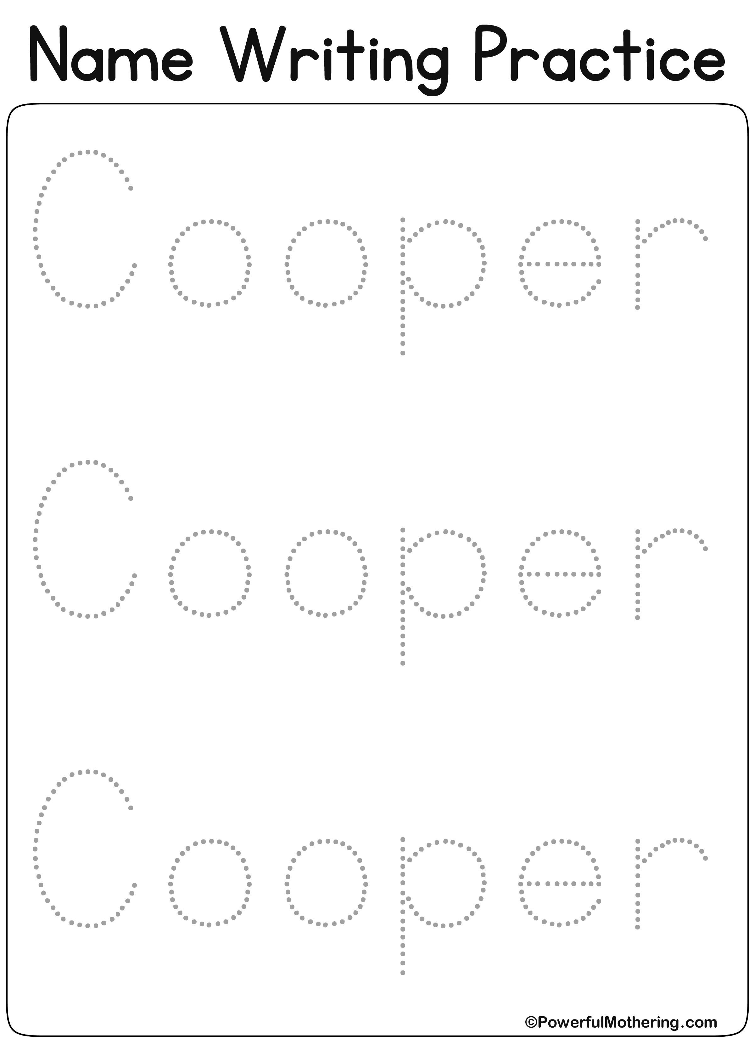 Eateprintables Custom Name Get Text Cooper
