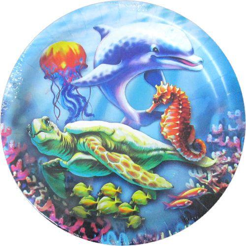Details About Ocean Friends Sea Turtle Large Paper Plates 8