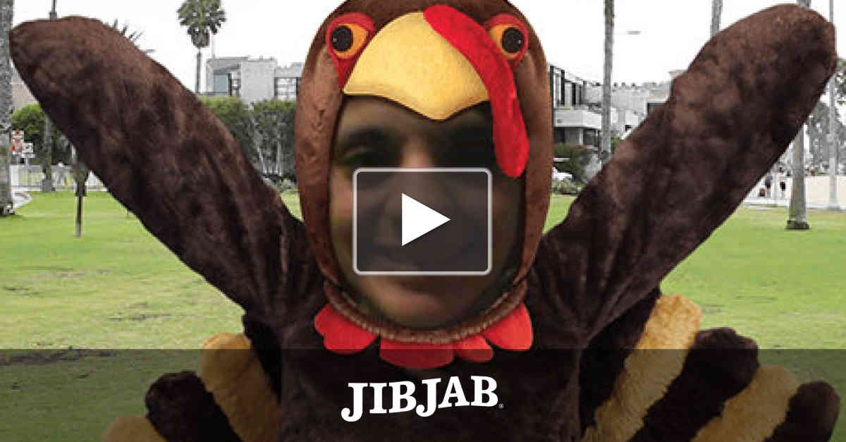 It's Turkey Day, and bird is the word! Cast yourself or a friend as a rockin' gobbler and get that tail shaking!