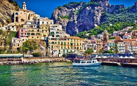 Beautiful Amalfi in Salerno, Italy