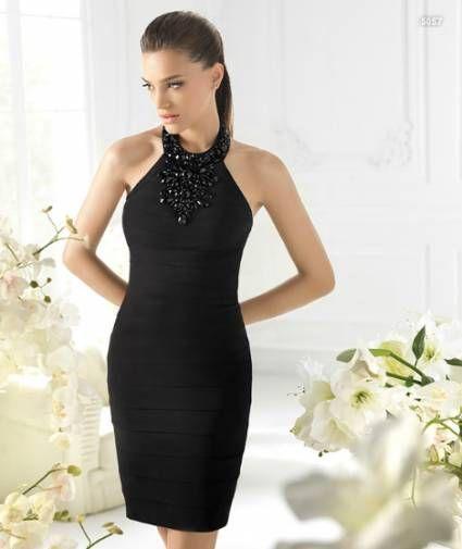 Vestidos cortos para bodas negro