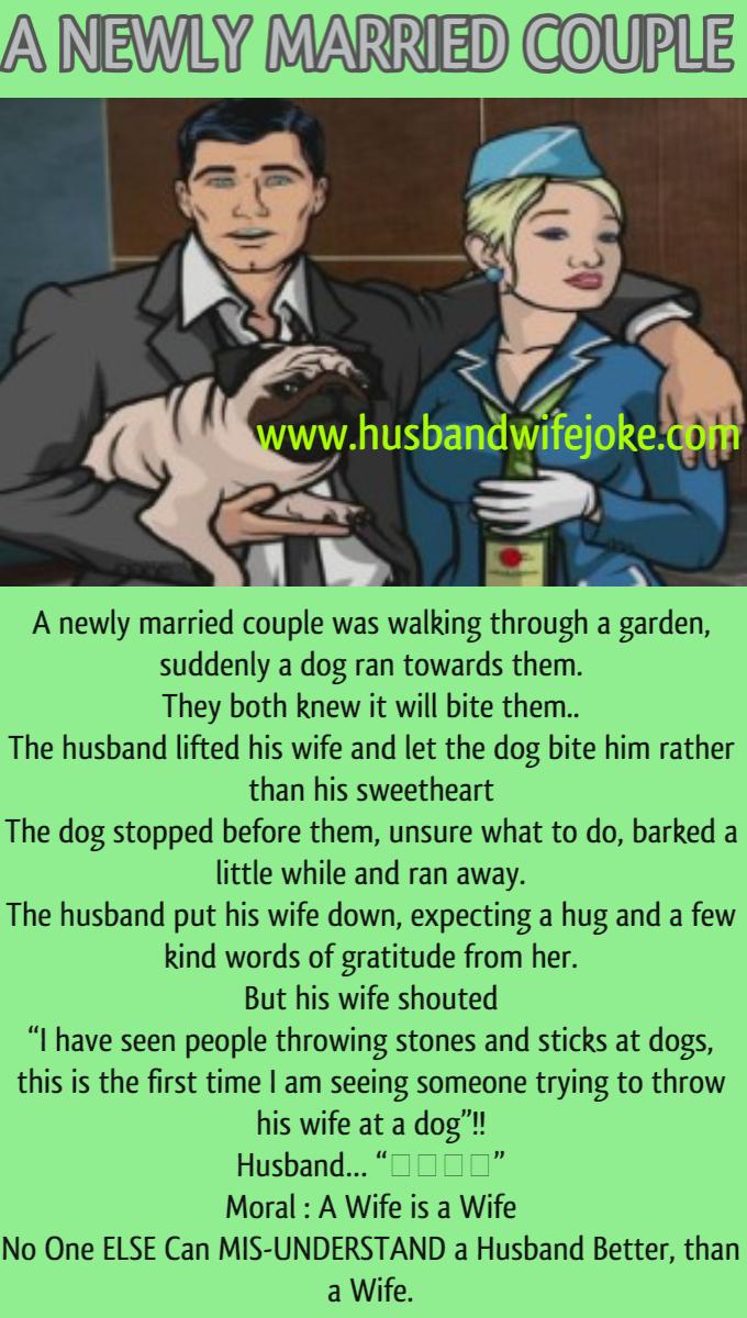 A Newly Married Couple Husband Wife Jokes Newly Married Couple Married Couple Wife Jokes