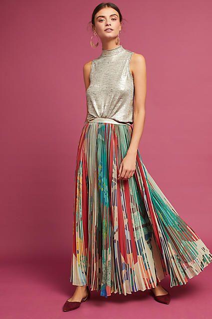 Geisha Designs Carmina Pleated Maxi Skirt #love #fashion