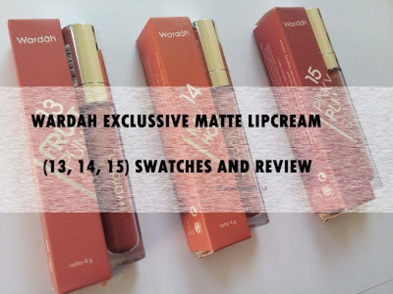 Review Wardah Lip Cream No 13 14 15 Review Product Lip Cream