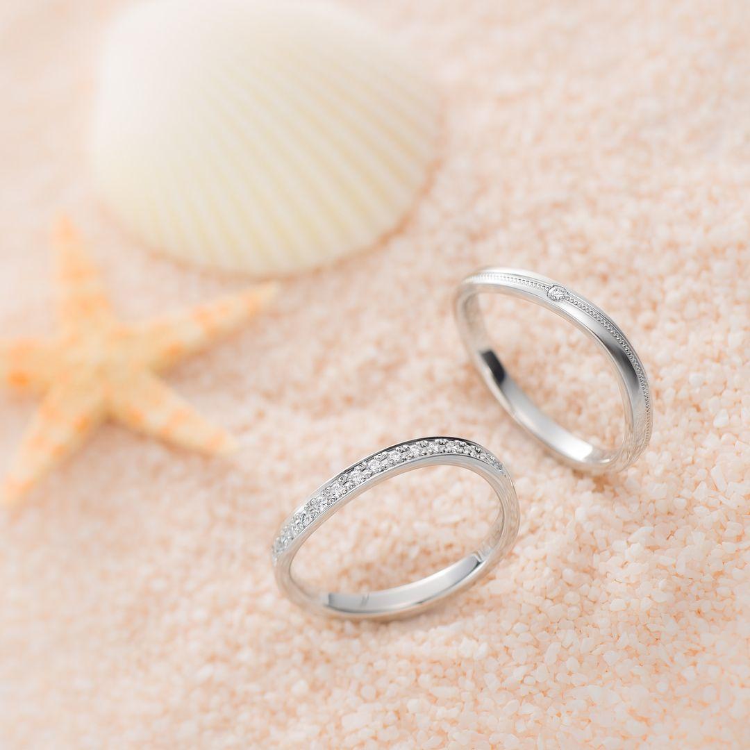 50b61821e1d0fd 婚約・結婚指輪のI-PRIMO(アイプリモ)公式アカウントさんはInstagramを利用しています:「* 本日7月3日は「波の日」✨ 結婚指輪「アンフィトリテ」と「トリトーネ」  ...