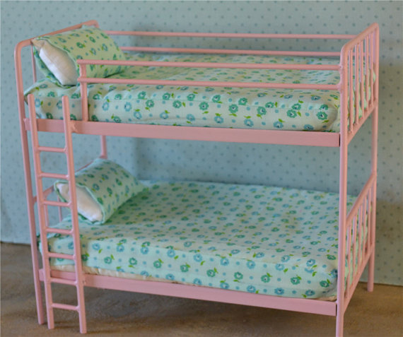 Doll Bed Metal Bunk Bed Miniature 1 6 By Dreamcometruebeds