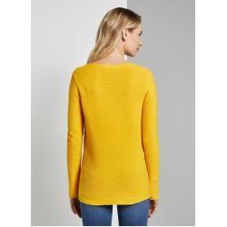 Photo of Tom Tailor Damen schlichtes Sweatshirt, gelb, unifarben, Gr.xxxl Tom TailorTom Tailor