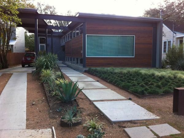 Superb Exterior Design Ideen Vorgarten Garten Modern Steinplatten Moos Awesome Ideas