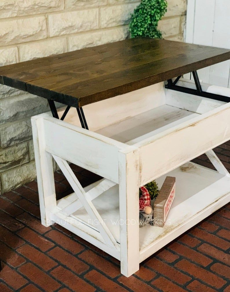 Lift Top Coffee Table Etsy Coffee Table Lift Top Coffee Table Coffee Table Farmhouse [ 1009 x 794 Pixel ]