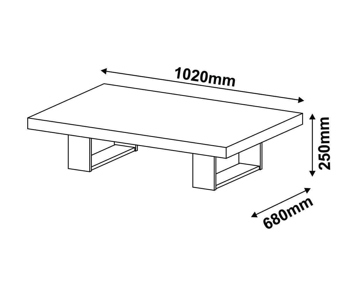 mesa de centro medidas