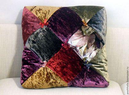 Текстиль, ковры ручной работы. Ярмарка Мастеров - ручная работа Подушка декоративная Коломбина. Handmade.