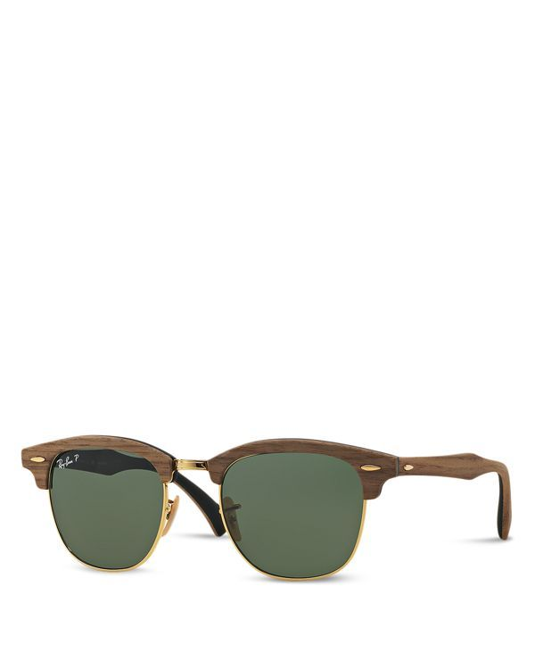1a3a9cd9319 Ray-Ban Polarized Wood Clubmaster Sunglasses