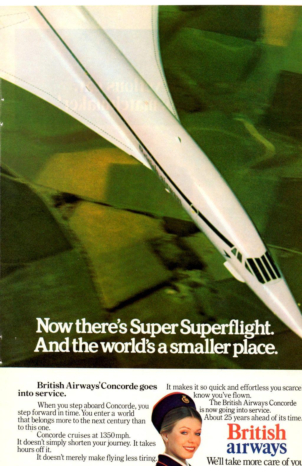 Vintage Ads British Airways Concorde (With images