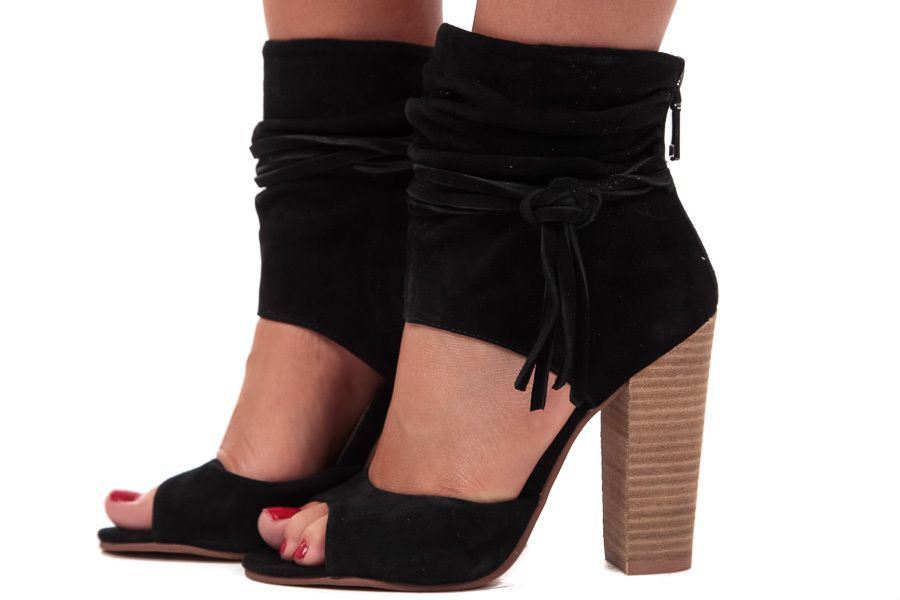 5bfb0724d3 Buy Heels & High Heeled Shoes for Women Online. Lime Lush Boutique - Black  Suede ...
