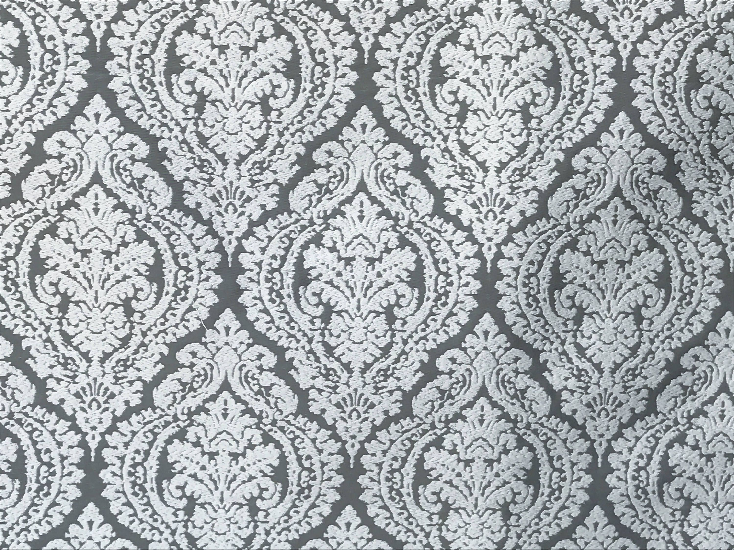 Gray And White Damask Curtain Fabric By The Yard Upholstery Whole Drapery Yardage Window Treatment Sofa For Fabricmart On