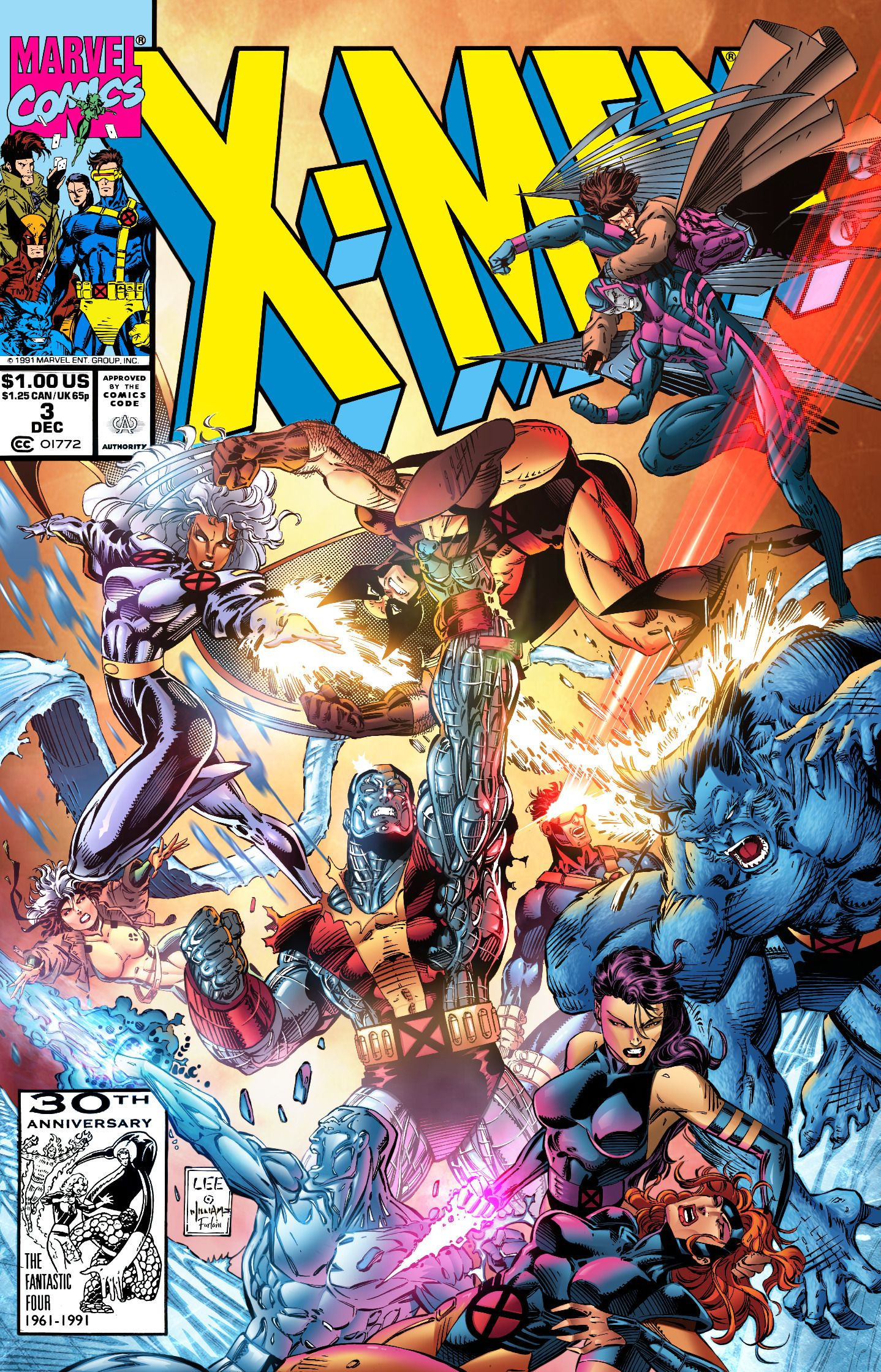X Men 1991 Issue 3 Cover Pencils By Jim Lee Inks By Scott Williams Colors By Me In 2020 Jim Lee Art Xmen Art Marvel Comics Art