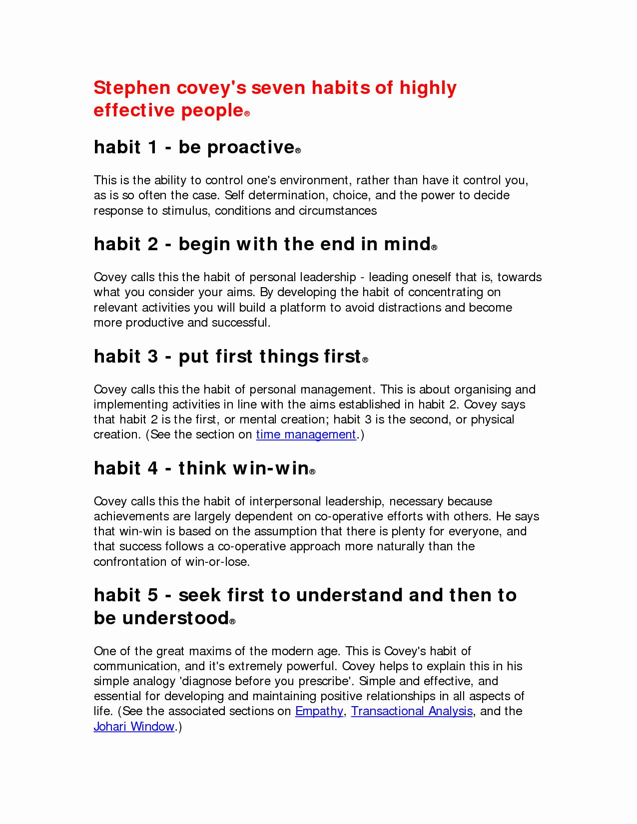 50 7 Habits Worksheet In With Images