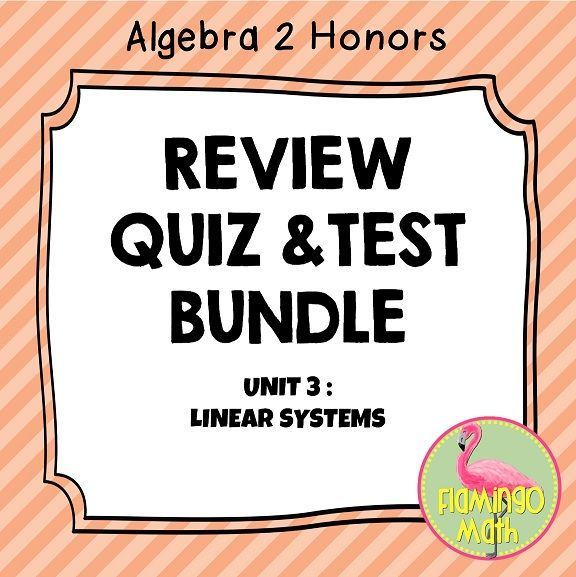 Linear Systems And Inequalities Activities Assessments Bundle