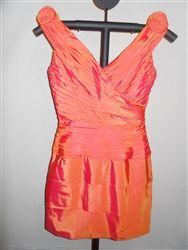 Metallic Orange Evening Dress - Size 10.  Rating = ****