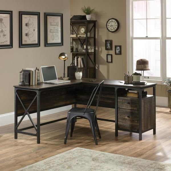 #Carbon #Depot #Desk #Home #Lshaped #Oak #River #SAUDER