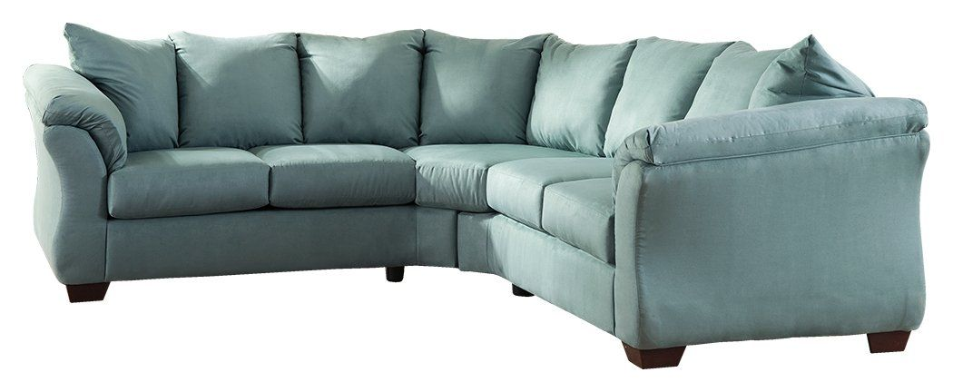 Ashley Furniture Signature Design Darcy 2 Piece Sectional Left Arm And Right Arm Facing Loveseat S Ashley Furniture Living Room Deep Seated Couch Furniture