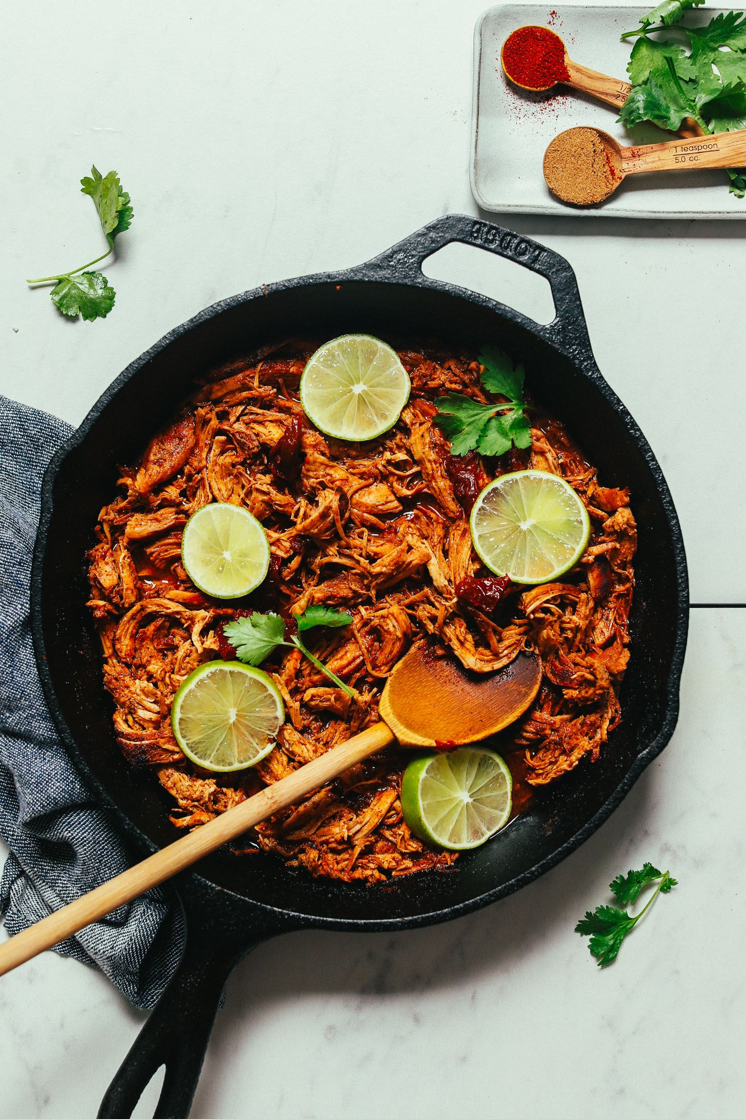 1-Pan Mexican Shredded Chicken #mexicanchickentacos
