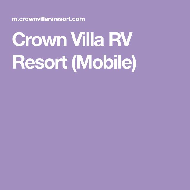 Crown Villa Rv Resort Mobile Campgrounds Logos Villa Nintendo