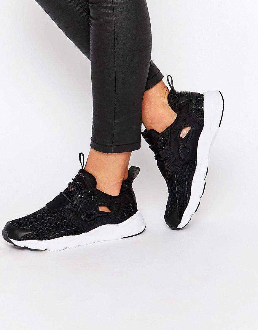 the best attitude 627d7 72b1f Reebok Black New Woven Furylite Trainer