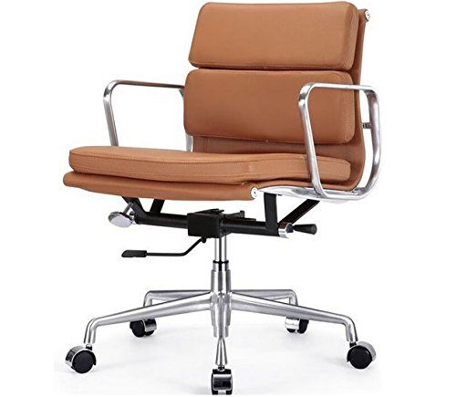 Master Task Chair Aluminum Group Leather Soft Pad Management