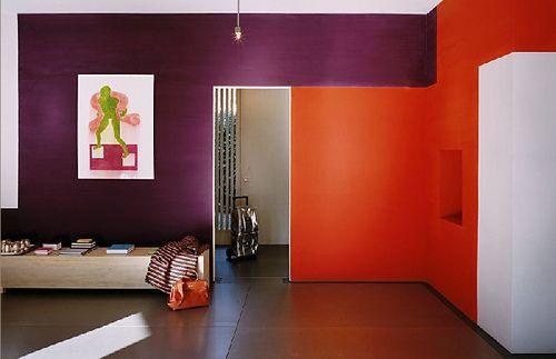 purple and orange walls | Orange bedroom walls, Bedroom ...