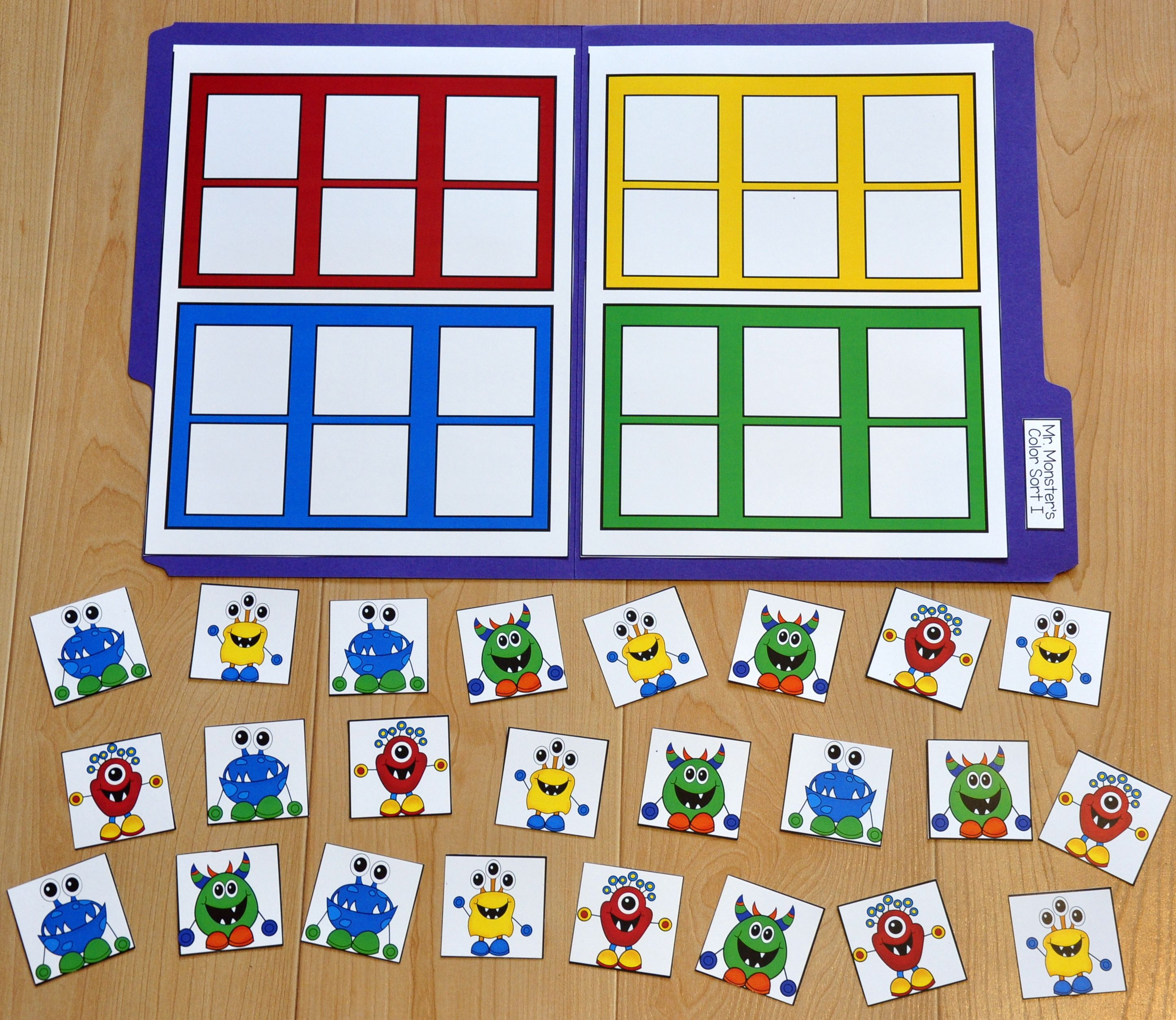 These Matching And Sorting File Folder Games Are Monster