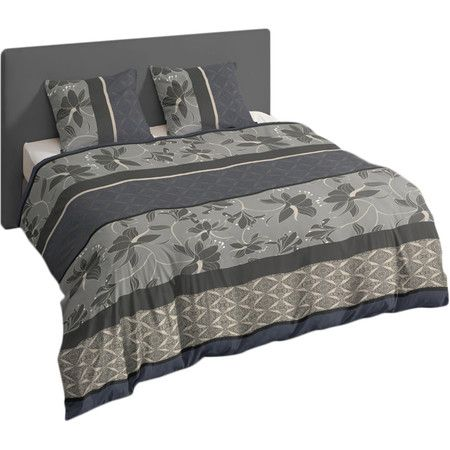 Featuring a subtle floral design, this cotton-satin duvet set is the perfect way to refresh your master suite or guest bedroom. Produ...
