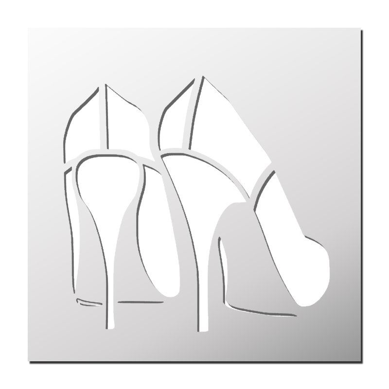 talonsPochoirDécalcomanie et Pochoir Pochoir Chaussures à stQdChrxB