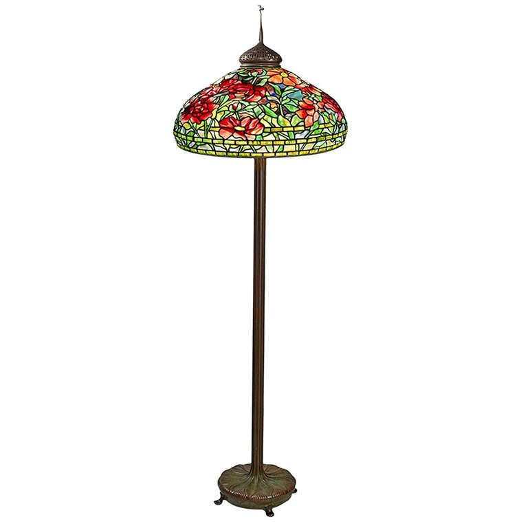 "Tiffany Floor Lamp Best Tiffany Studios ""peony"" Floor Lamp  Lamp  Pinterest  Tiffany Decorating Design"