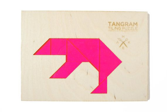 Classic bear tangram puzzle by bright beam laser goods a for Bright beam goods