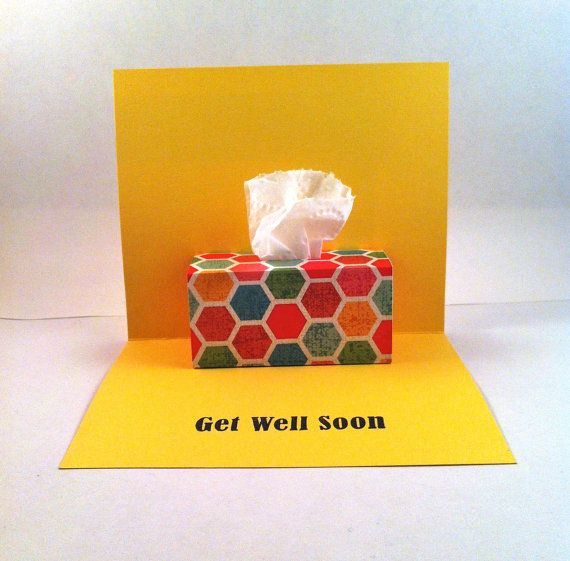 Get Well Soon Pop Up Card Tissue Box Pop Up By Leftoverpaper 4 99 Love Pop Up Cards Get Well Cards Greeting Card Shops