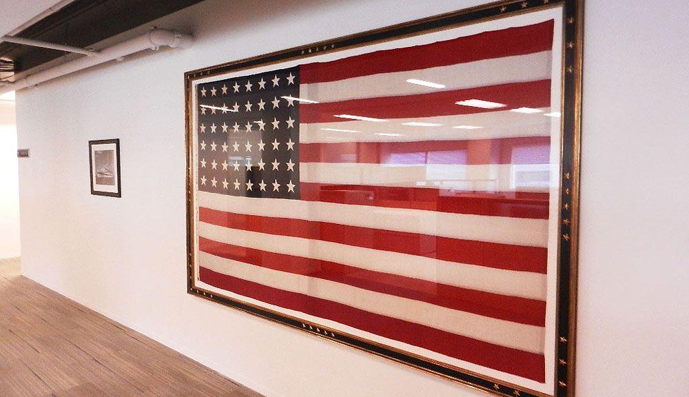 Large Framed American Flag | 11ft x 6ft framed USA flag | The White ...