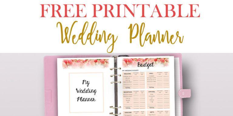 Free Printable Wedding Planner For Wedding Binder Free Wedding Planner Printables Free Wedding Planner Wedding Planner Printables