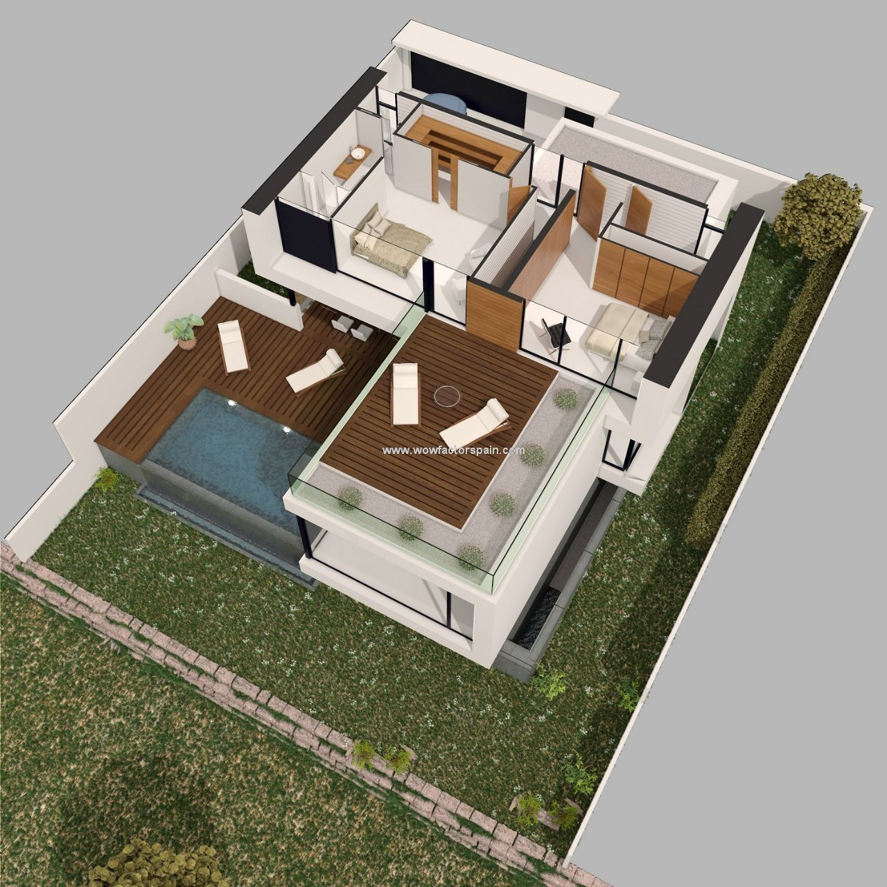 New Development Of Villas In Estepona 3d House Plans House Styles House Plans