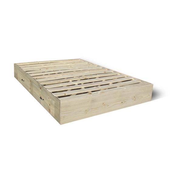 Delaware Solid Wood Platform Bed Frame: Platform Bed Frame With Drawers