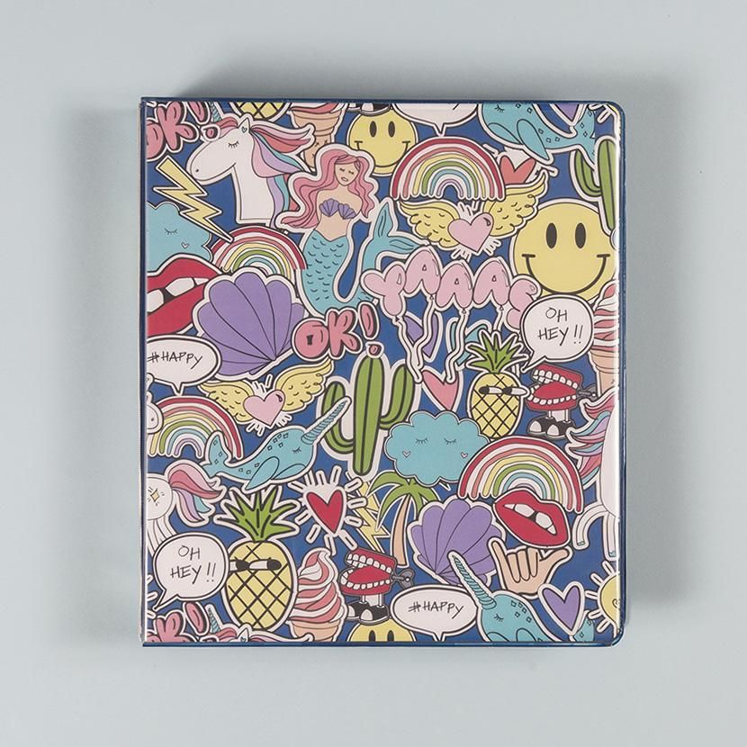 1 Inch Binder, Doodles, Binder
